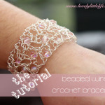 Crochet Wire Bracelet Tutorial