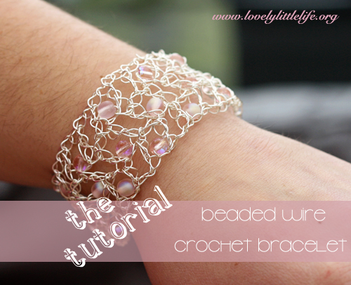 Crocheting With Wire : Crochet Wire Bracelet Tutorial