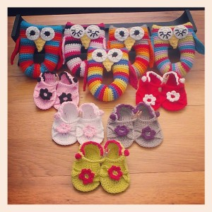 Owl rattles & baby sandals