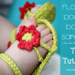 Flower Power Baby Sandals – the tutorial!!!