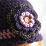 Big Flower Beanie Hat