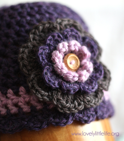Flower beanie close
