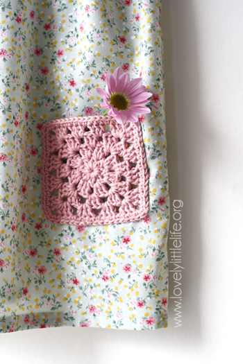 summer dress flower pocket