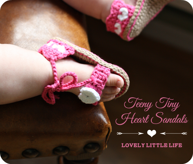 Teeny Tiny Heart Sandals