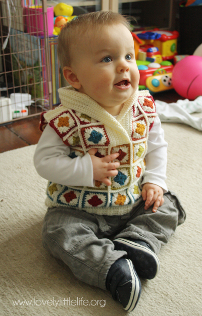 Shawl Collar Crochet Baby Jumper