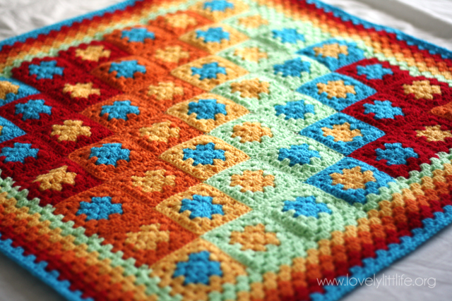 Bright baby boy crochet blanket