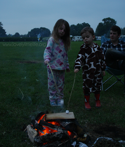 kids toasting marshmallows
