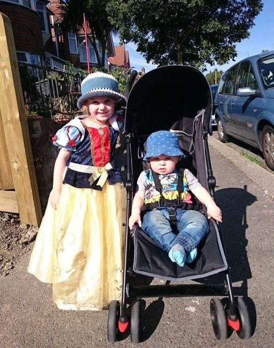 Taking a walk in fancy dress